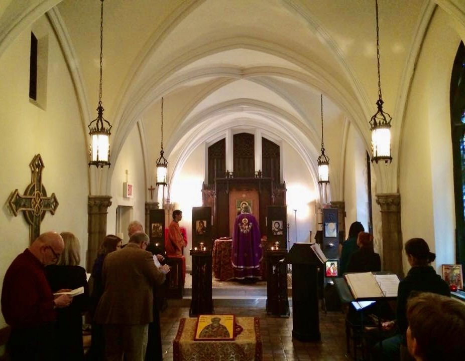 Lampman Chapel, Union Theological Seminary, NY NY, with Orthodox Christian iconostasis installed