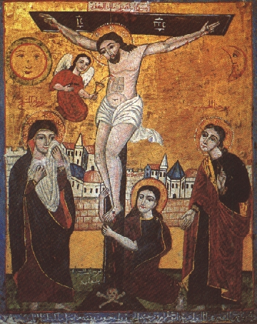 Women at the Crucifixion icon