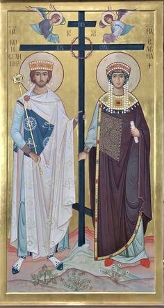 Saints Helen and Constantine with the Cross
